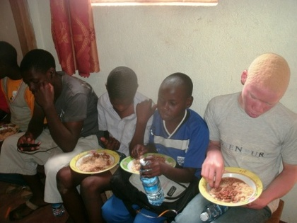 Classic children enjoy meals during saturday club meeting.