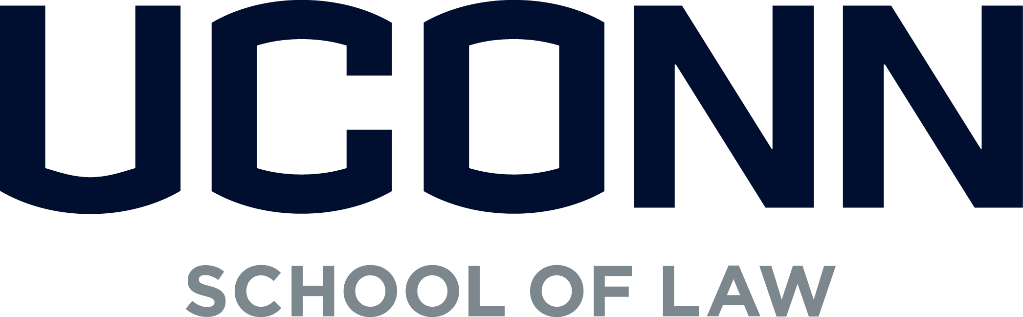 Classic school of law wordmark stacked blue gray