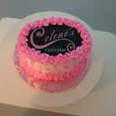 Small celene s logo cake