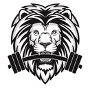 Small iron pride gym logo   wht   no text 01