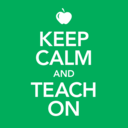 Small keep calm teach on