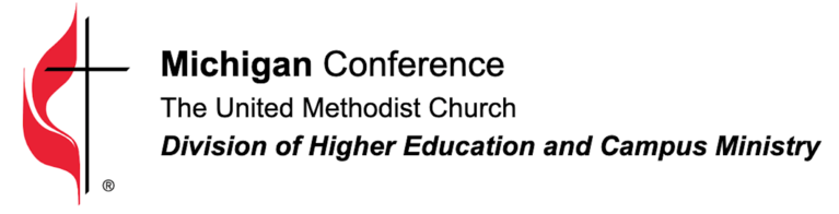 Detroit and West Michigan Conference of The United Methodist Church Board of Higher Education and Campus Ministry logo