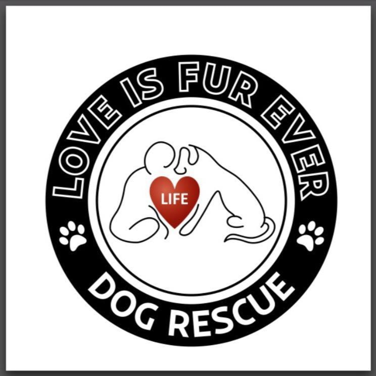 LOVE IS FUR EVER DOG RESCUE INC logo
