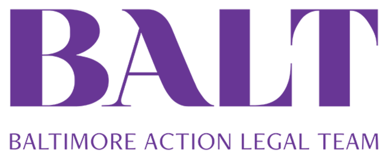 """Baltimore Action Legal Team"" logo"