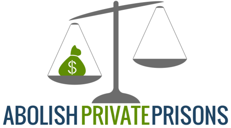 Abolish Private Prisons logo