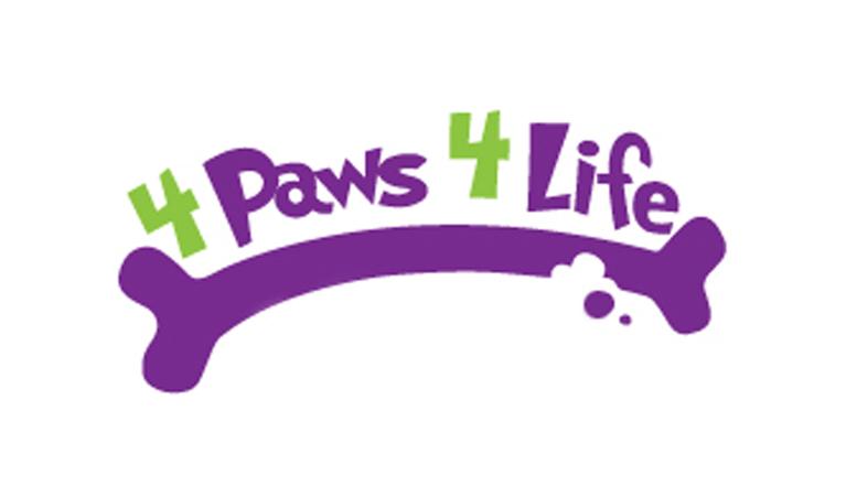 4 Paws 4 Life Rescue logo