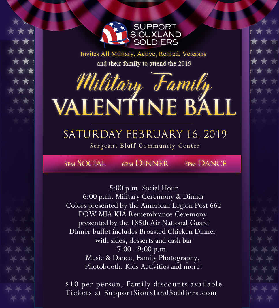 Support Siouxland Soldiers Military Valentine Ball image