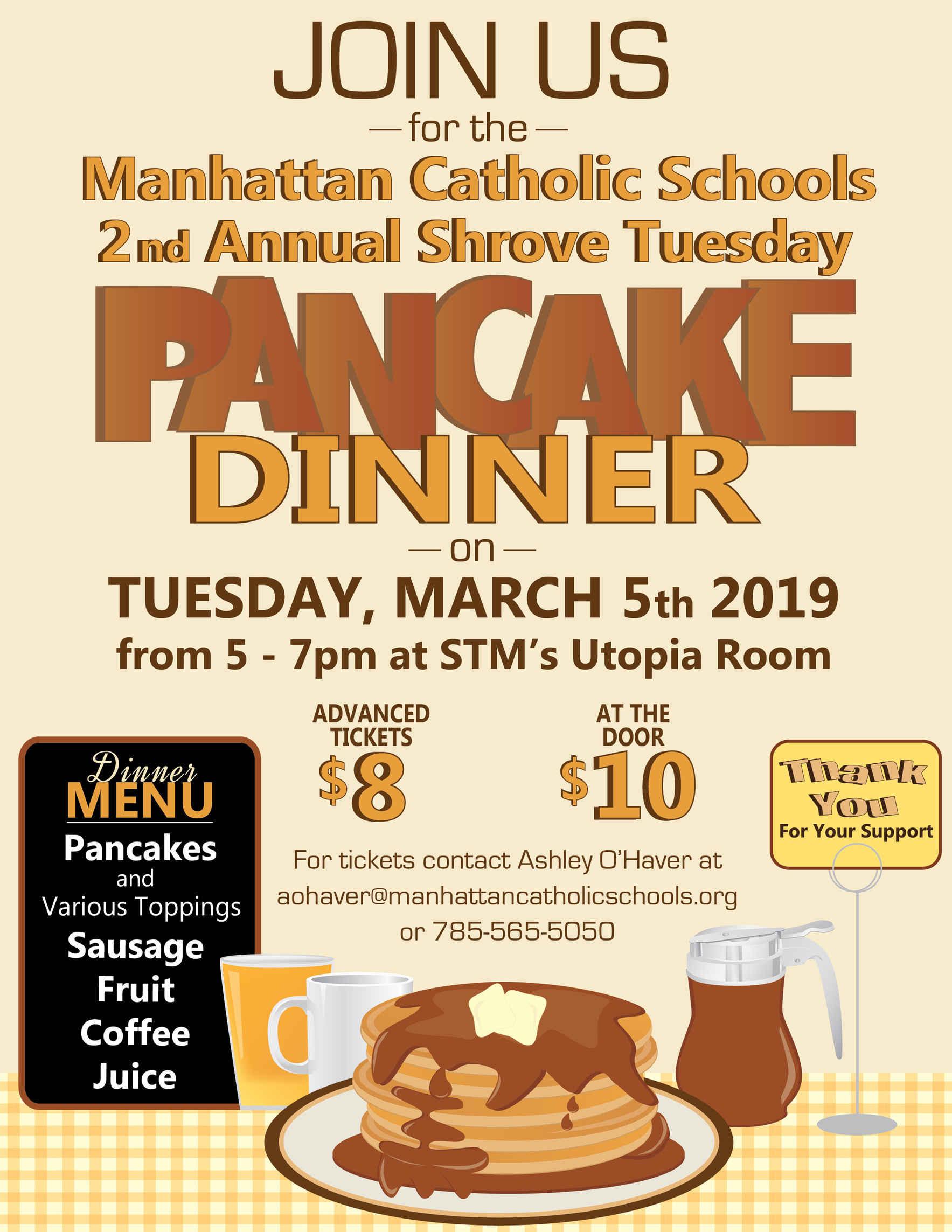 2nd Annual Shrove Tuesday Pancake Dinner image
