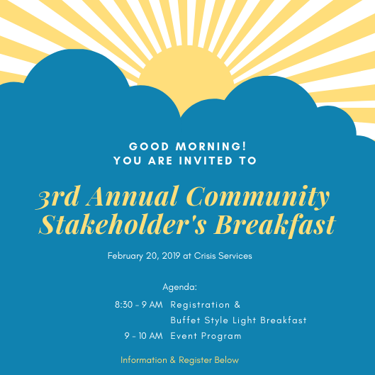 3rd Annual Stakeholder's Breakfast - Suicide Prevention Coalition of Erie County image