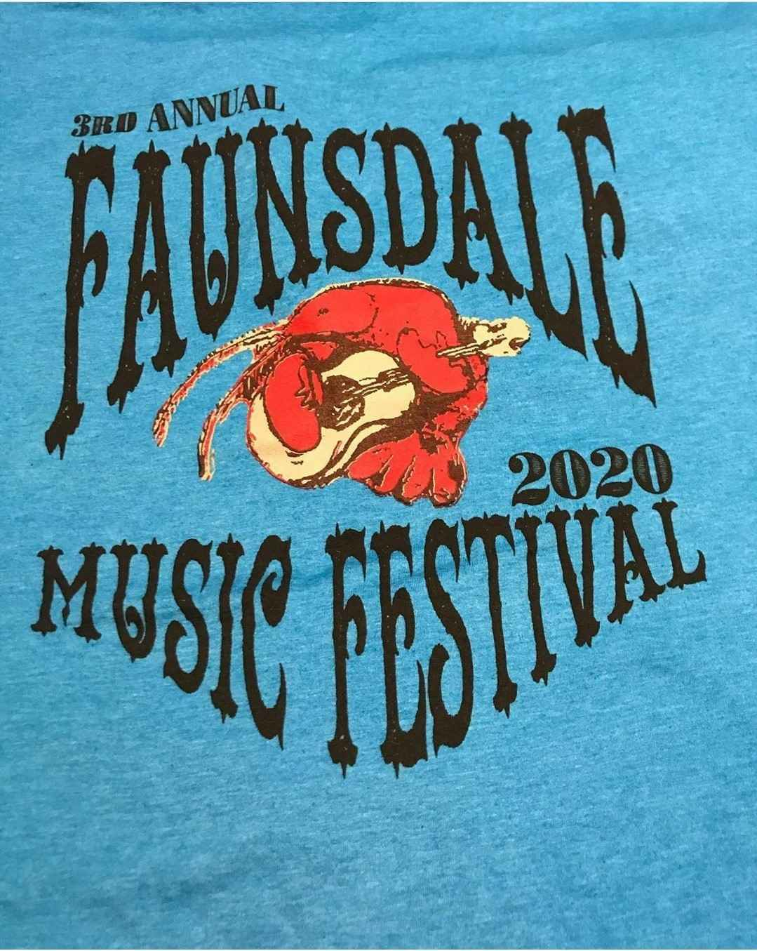 Buy the New Faunsdale Music Festival 2020 (Corona No-Go!) T-Shirt or the Community Center T-Shirt image