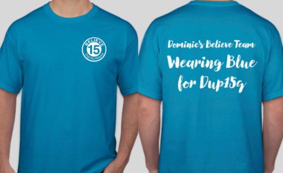 Wearing Blue for Dup15q T-Shirt Sale image