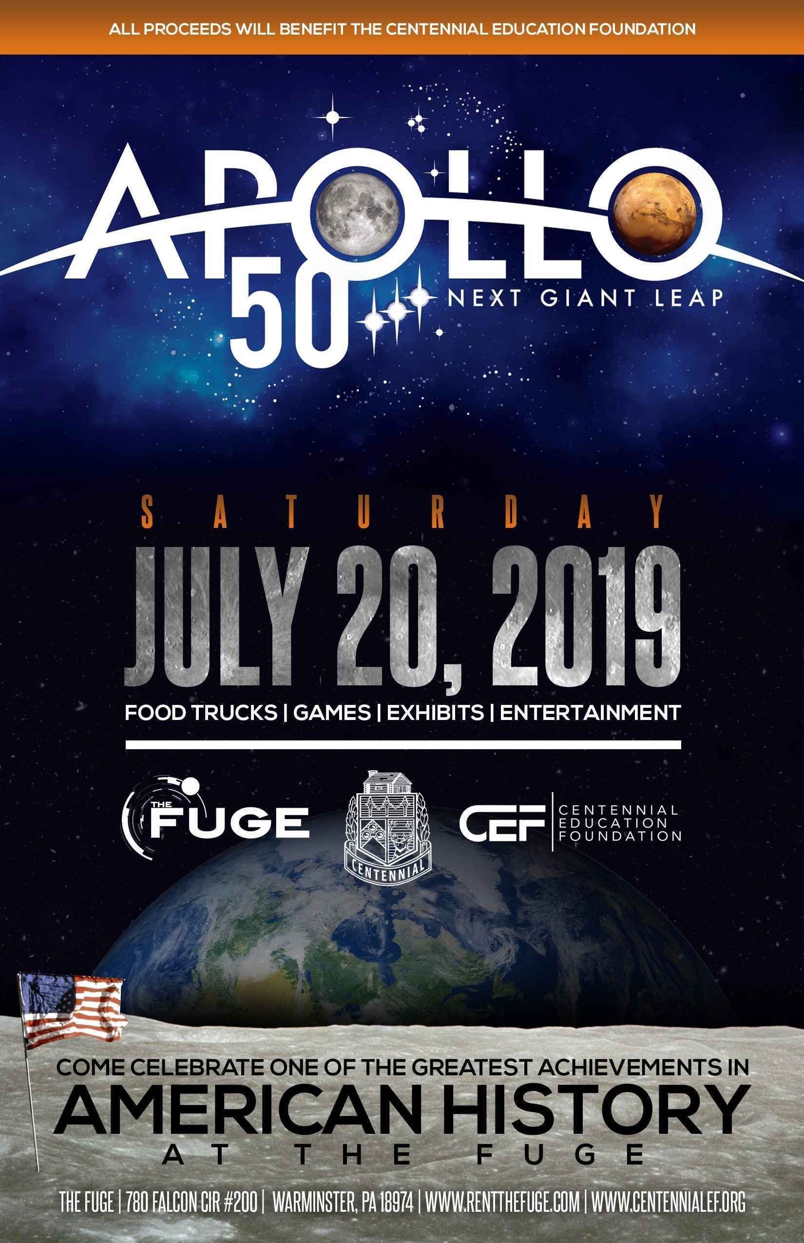 July 20th Apollo 11 Fuge Event - The Next Giant Leap image