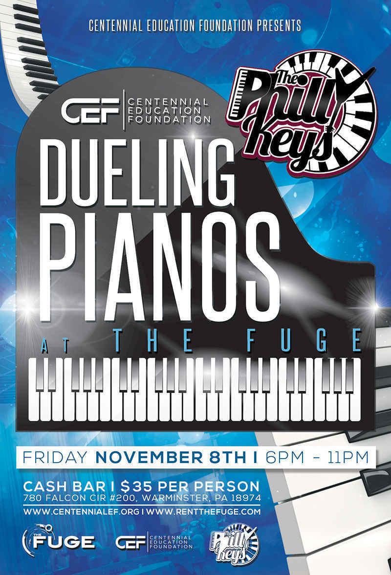 November 8th Dueling Pianos-- Featuring Philly Keys and Bonehead image