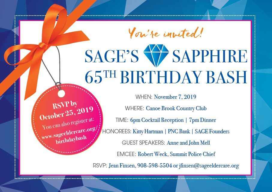SAGE's Sapphire 65th Birthday Bash image
