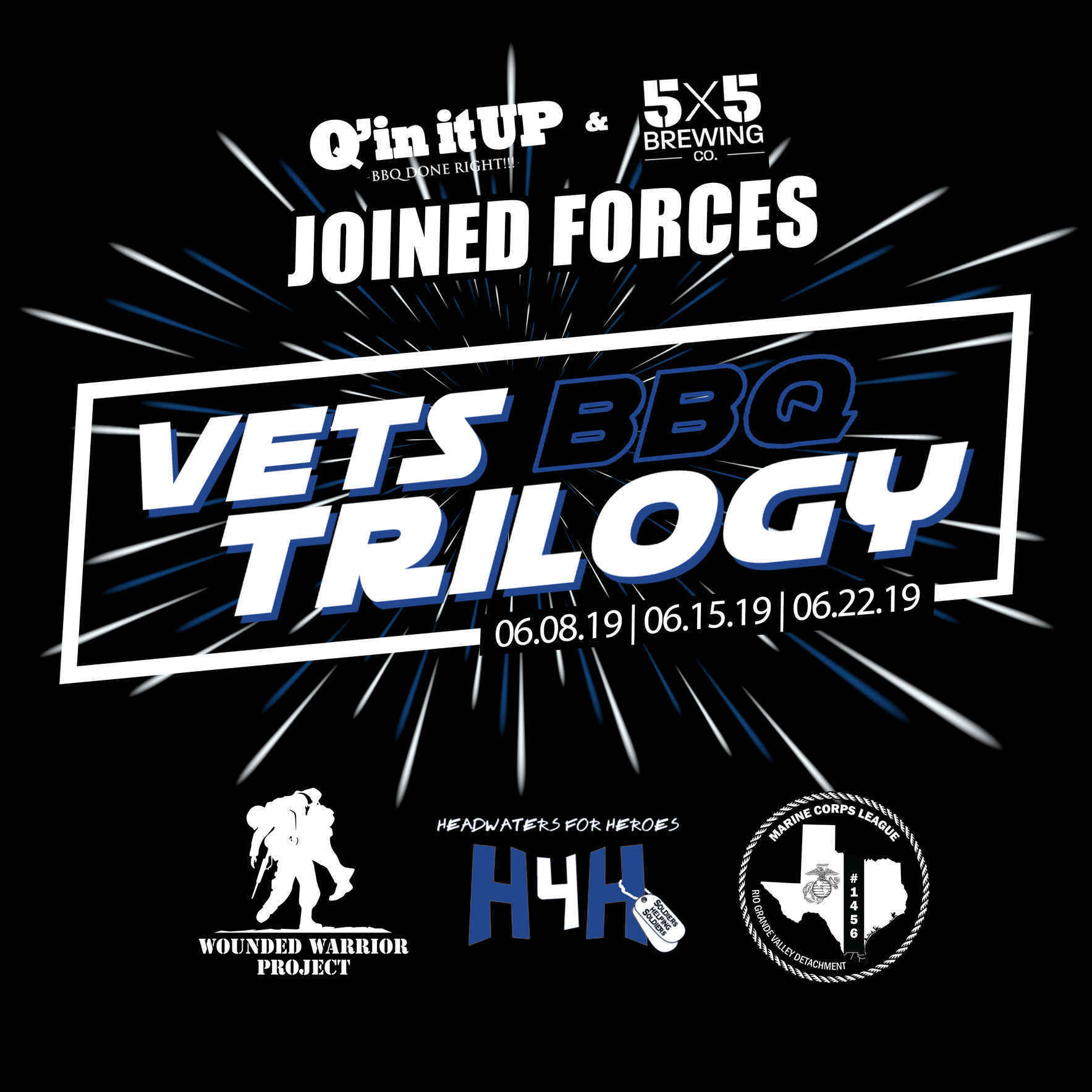 Episode 1 of Vets BBQ Trilogy by Q'in itUP BBQ & 5x5 Brewing image