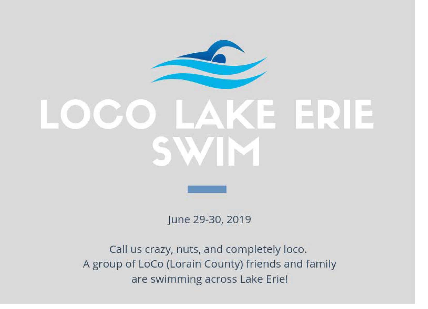 LoCo Lake Erie Swim image