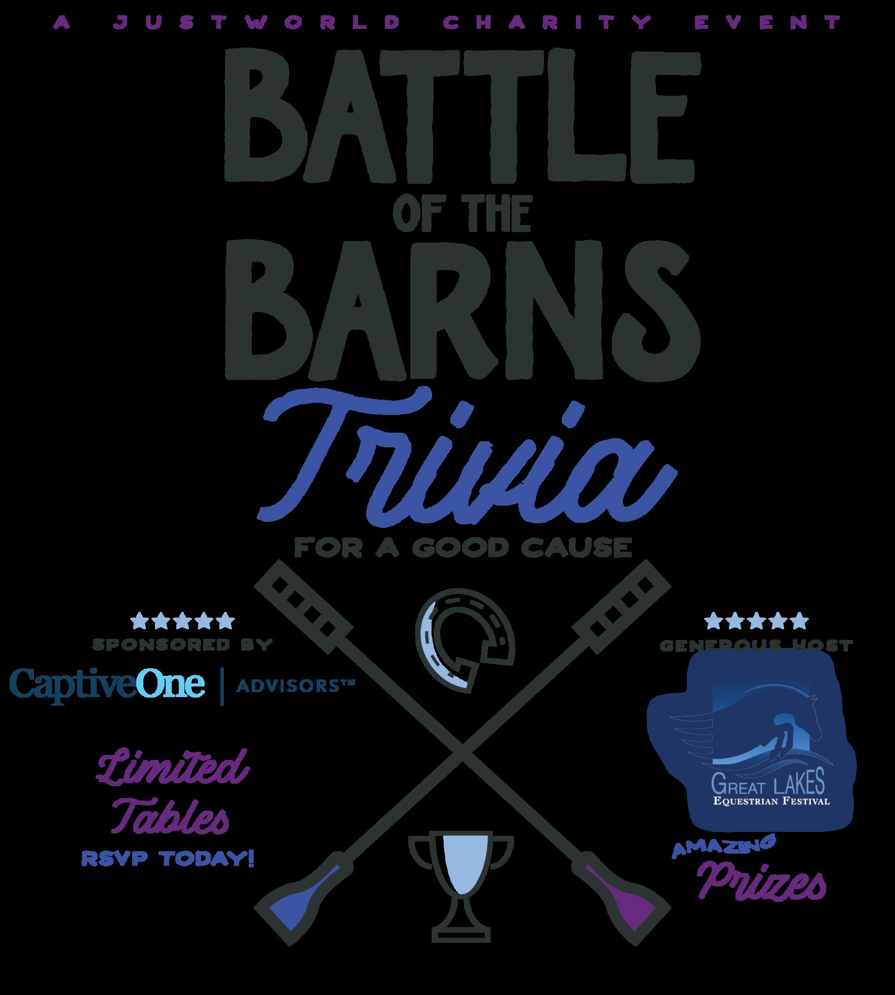 JustWorld & CaptiveOne Battle of the Barns Trivia Night  image