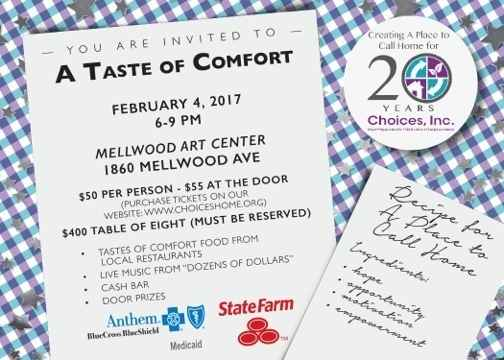 A TASTE OF COMFORT - benefiting Choices, Inc. image