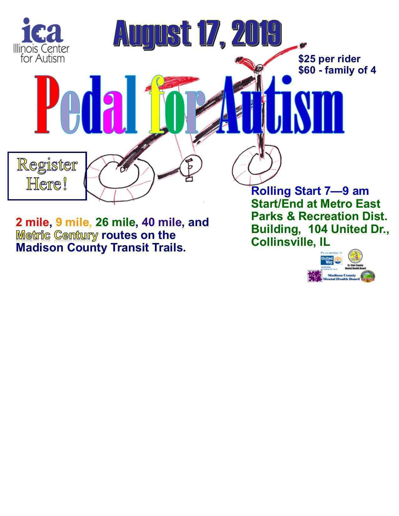 Illinois Center for Autism's Pedal for Autism image
