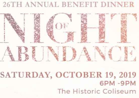 26th Annual Benefit NIGHT OF ABUNDANCE  image