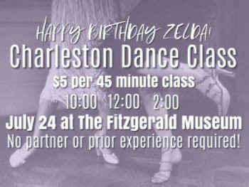 Learn the Charleston on Zelda's Birthday image