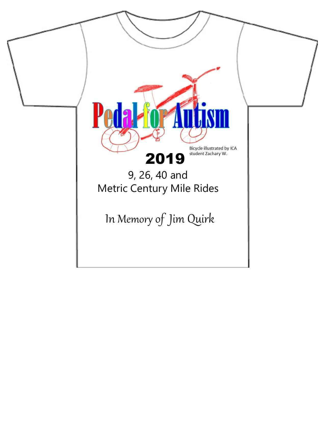 Pedal for Autism T-shirts image