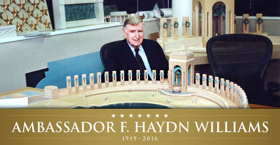 Ambassador F. Haydn Williams 100th Birthday Commemoration at the WWII Memorial image