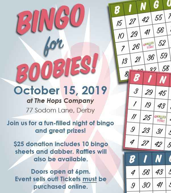2019 Valley Goes Pink Fall Bingo - SOLD OUT! image