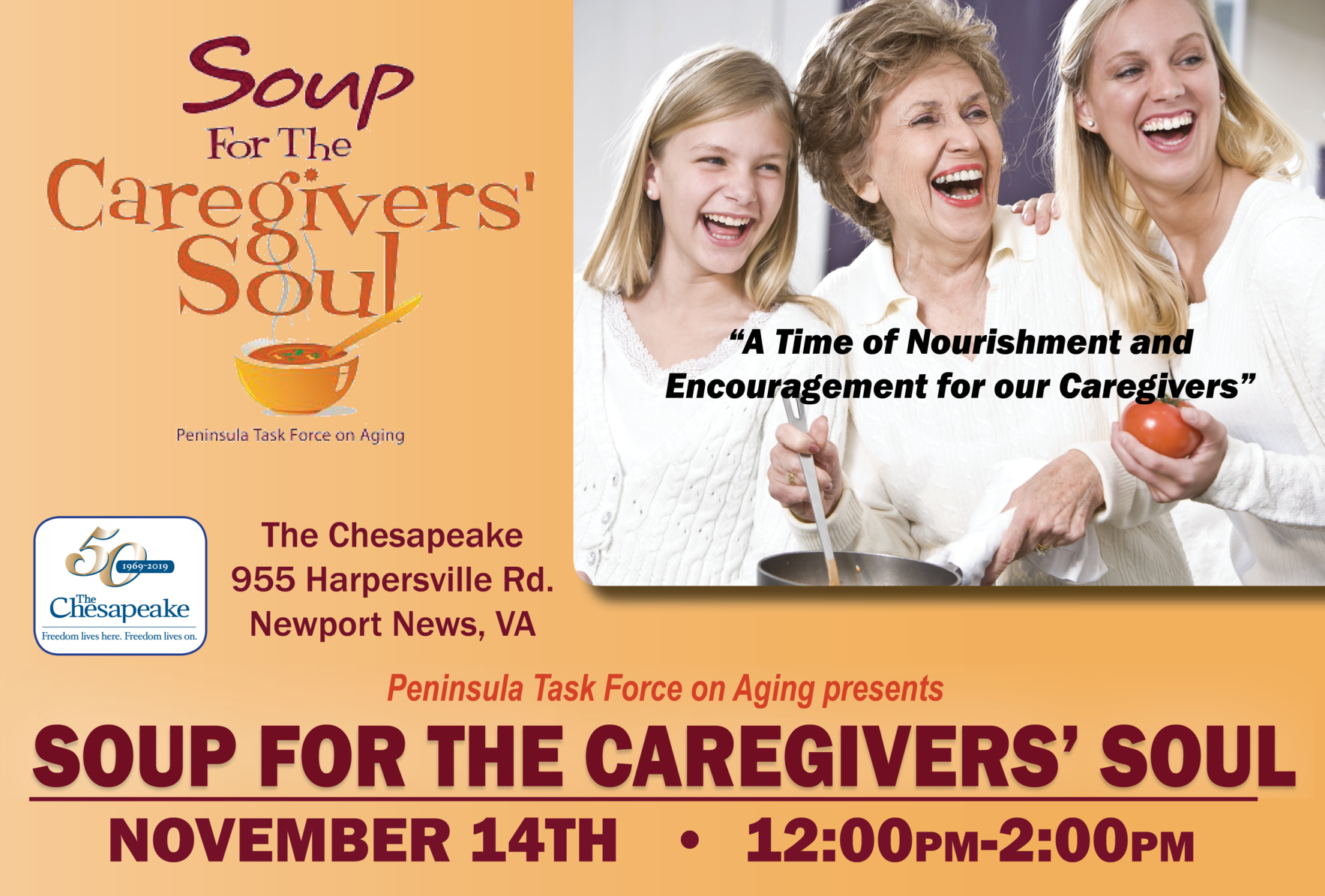 2019 Soup for the Caregivers' Soul image