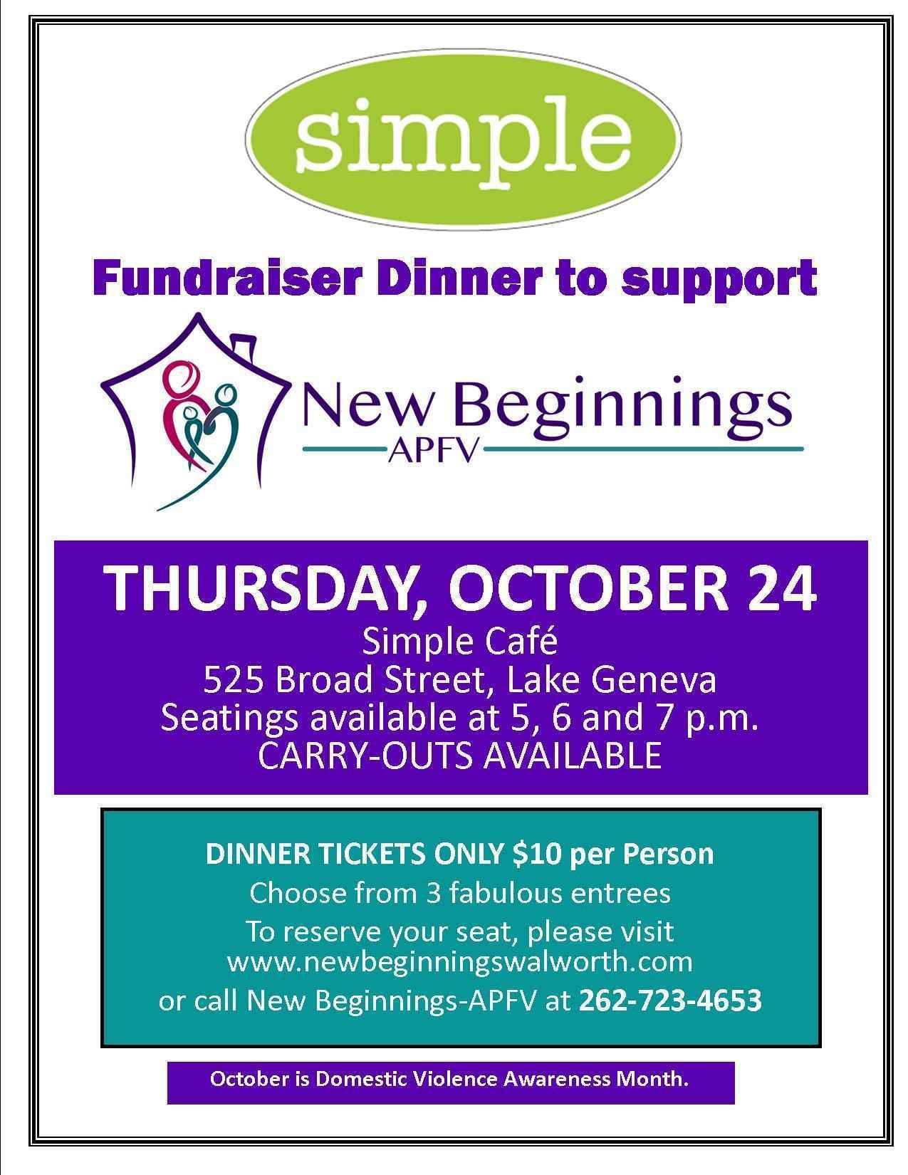 Simple Cafe Dinner Fundraiser image