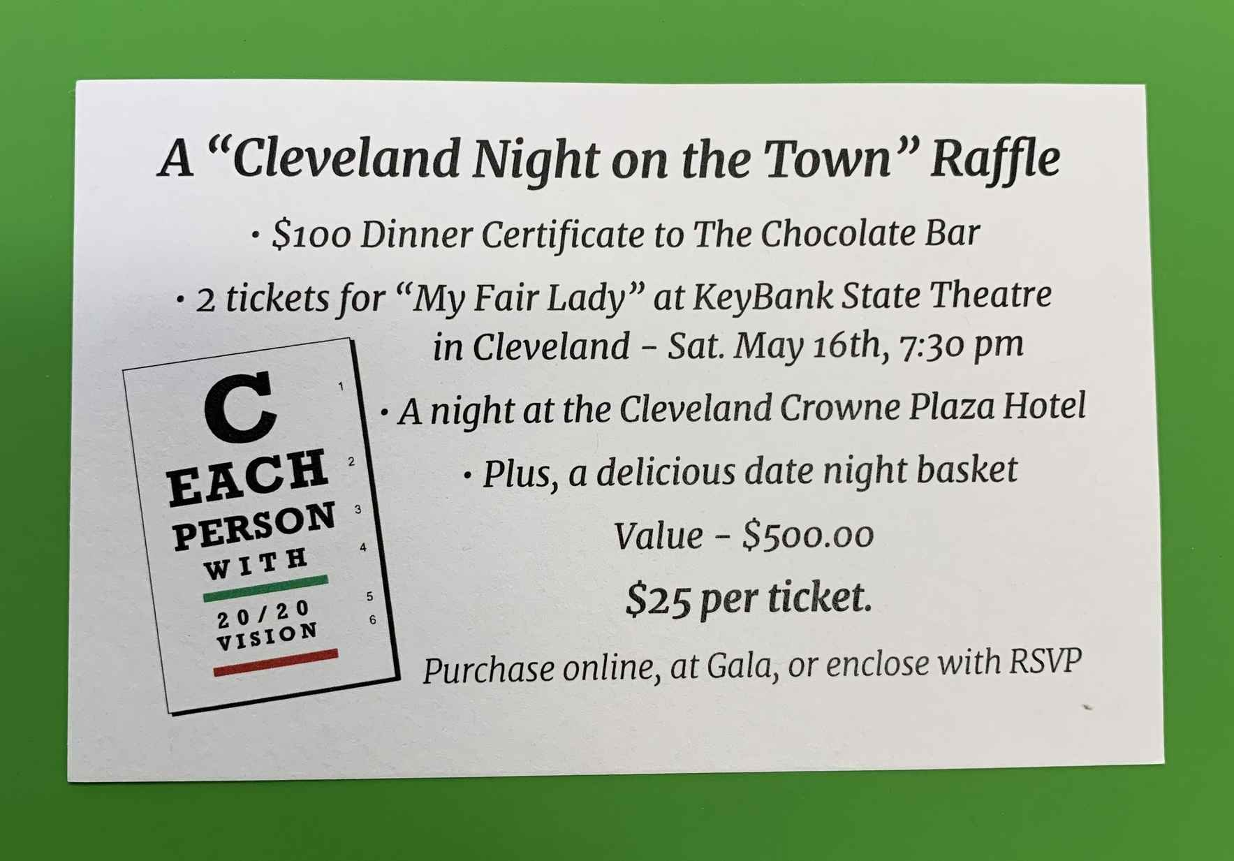 CLEVELAND- A night on the town! RAFFLE image