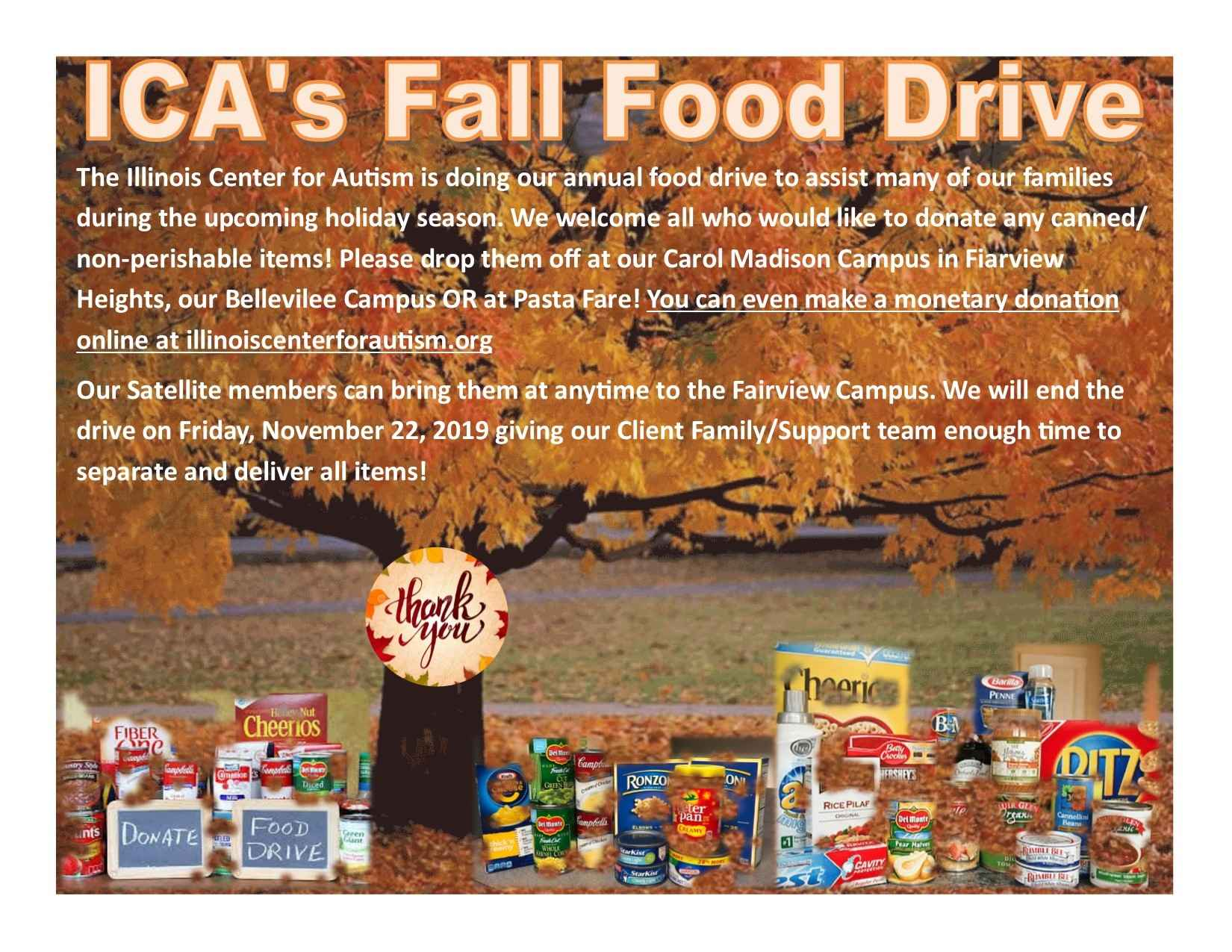 ICA 2019 Annual Food Drive - $75 Provides a Meal for One Family in Need!! image