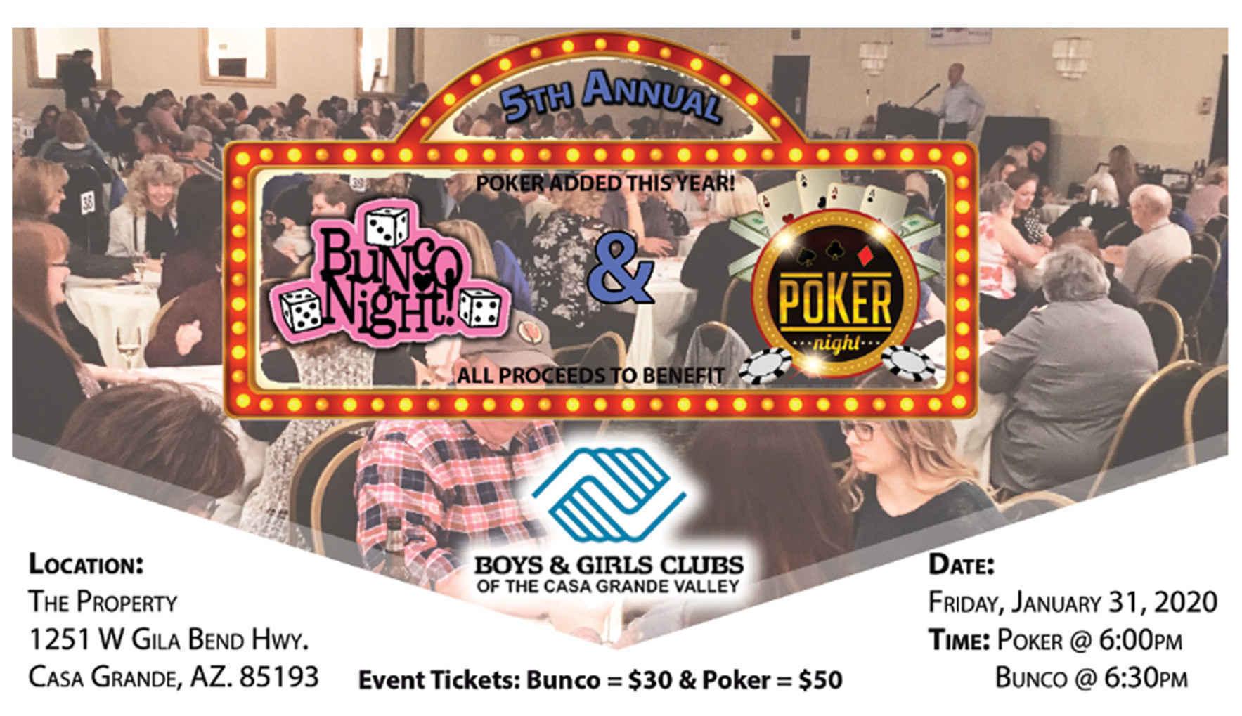 Bunco & Poker Night image