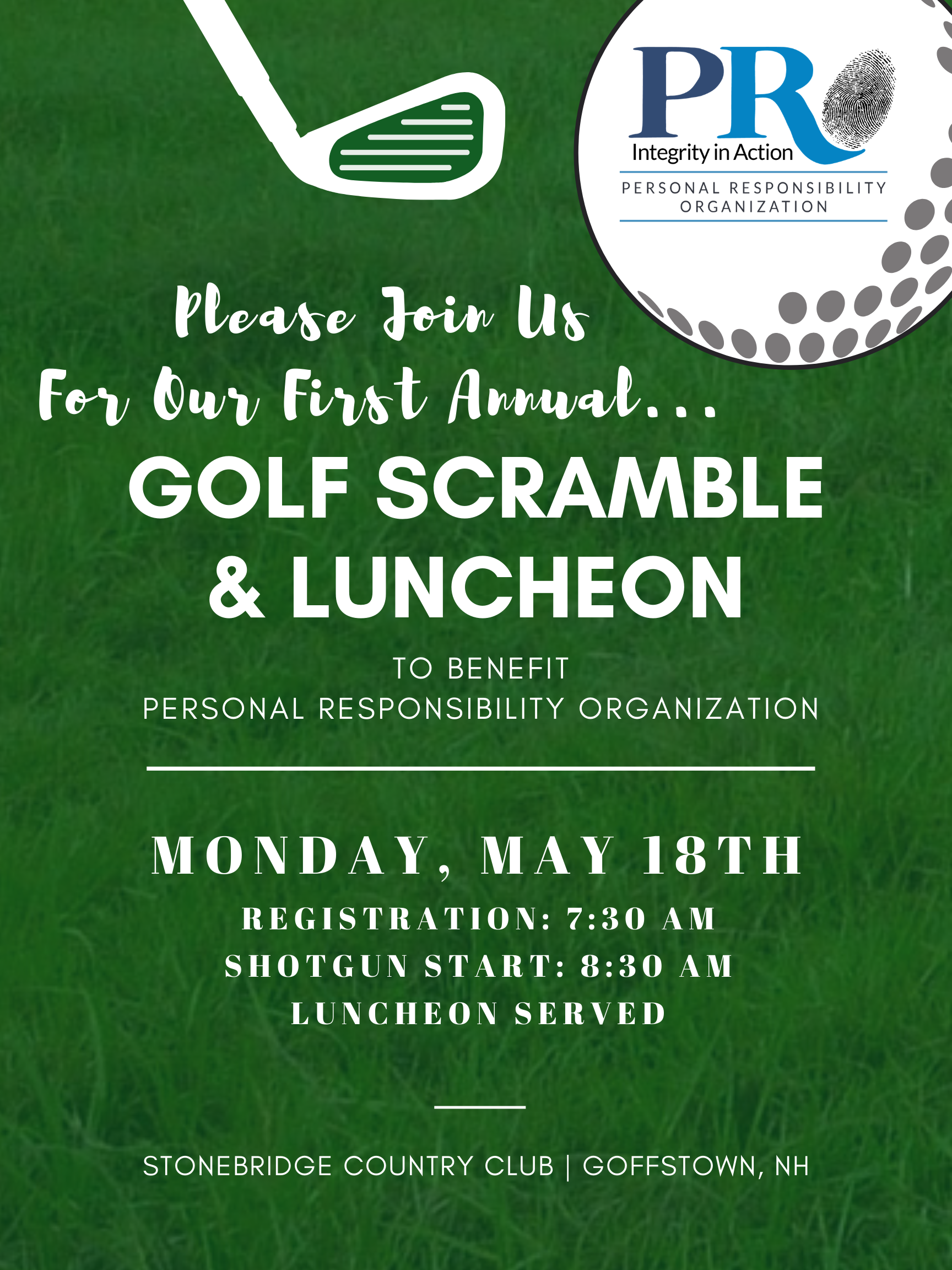 Charity Golf Scramble & Luncheon benefiting PRO image