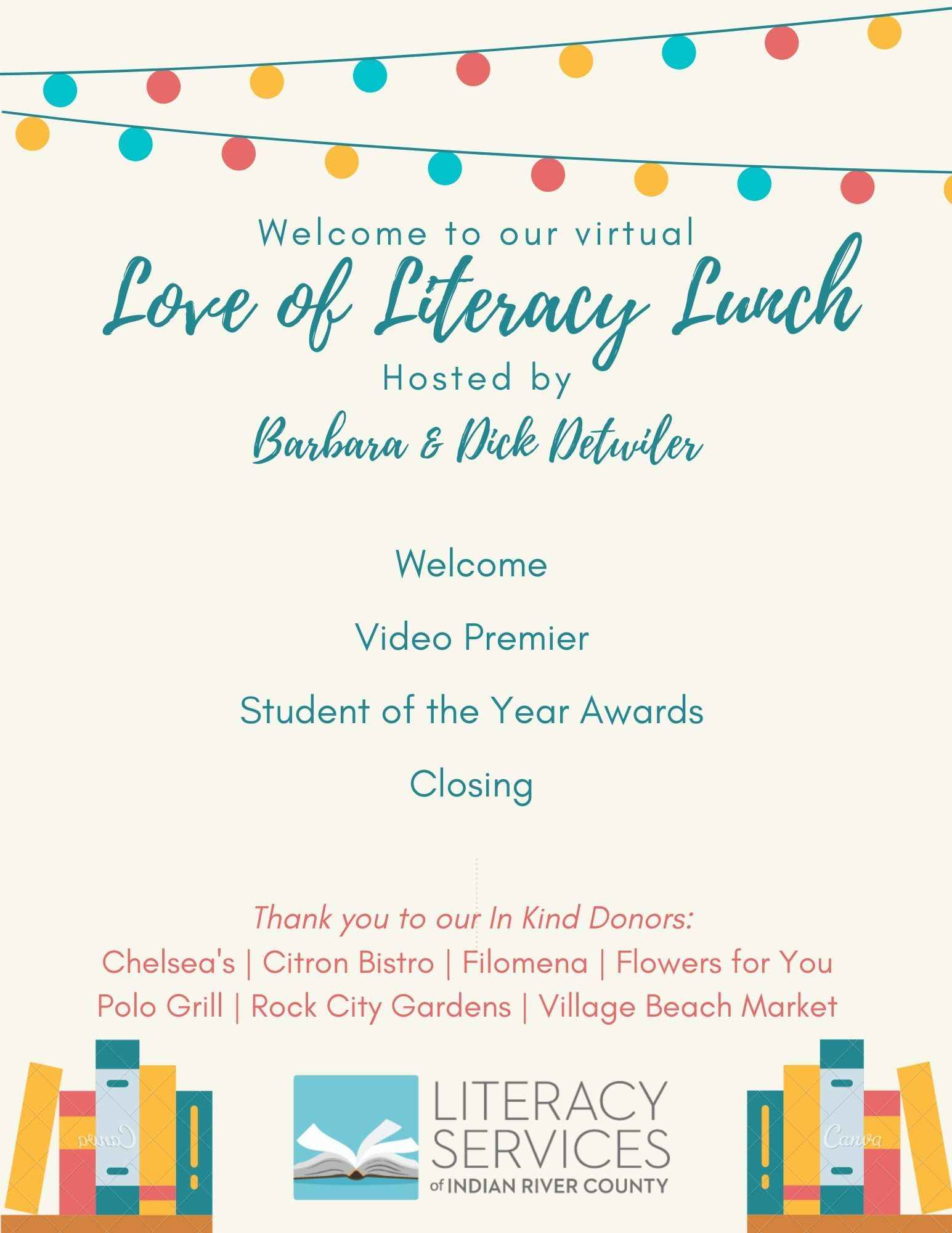 Love of Literacy Luncheon 2020 image