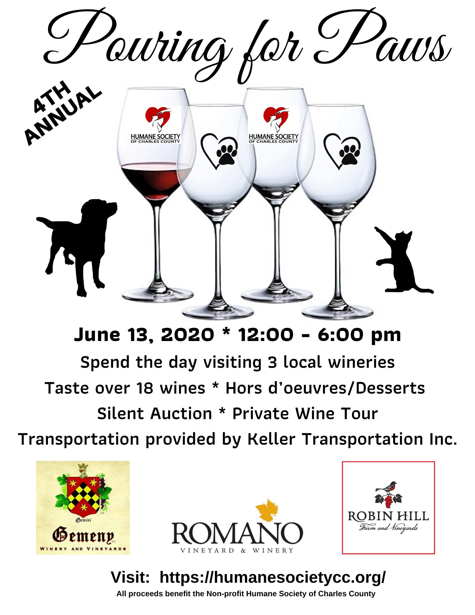 4th Annual Pouring for Paws Wine Tasting Tour image