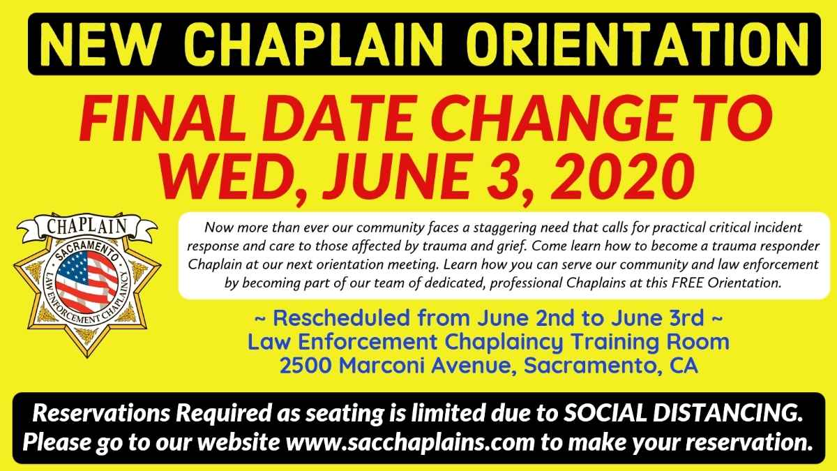 NEW CHAPLAIN ORIENTATION image