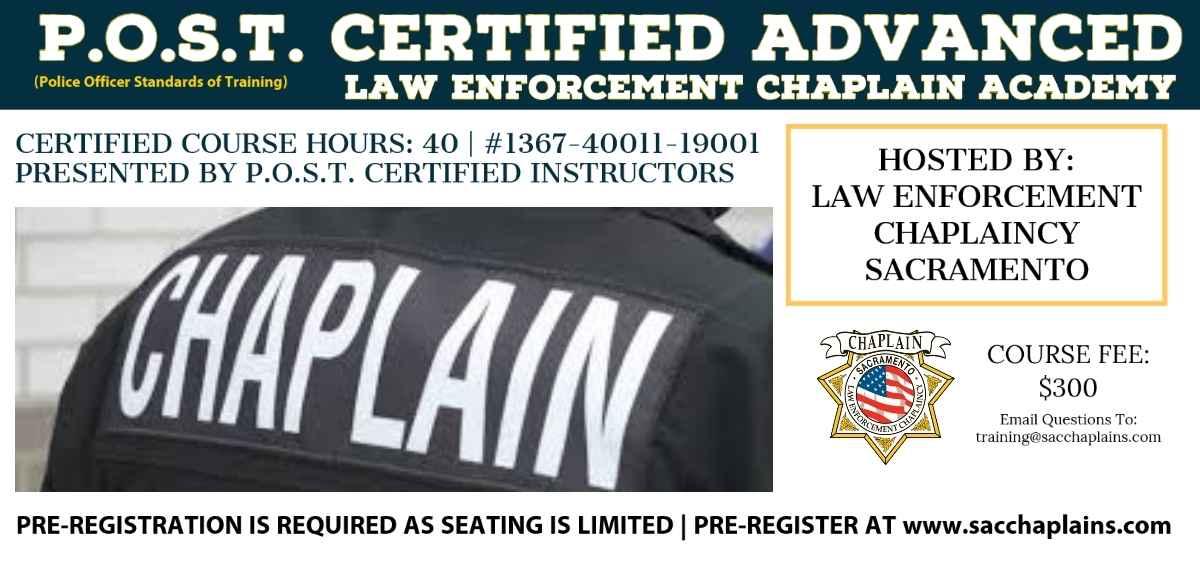 P.O.S.T. CERTIFIED ADVANCED LAW ENFORCEMENT CHAPLAIN ACADEMY (SACRAMENTO) image