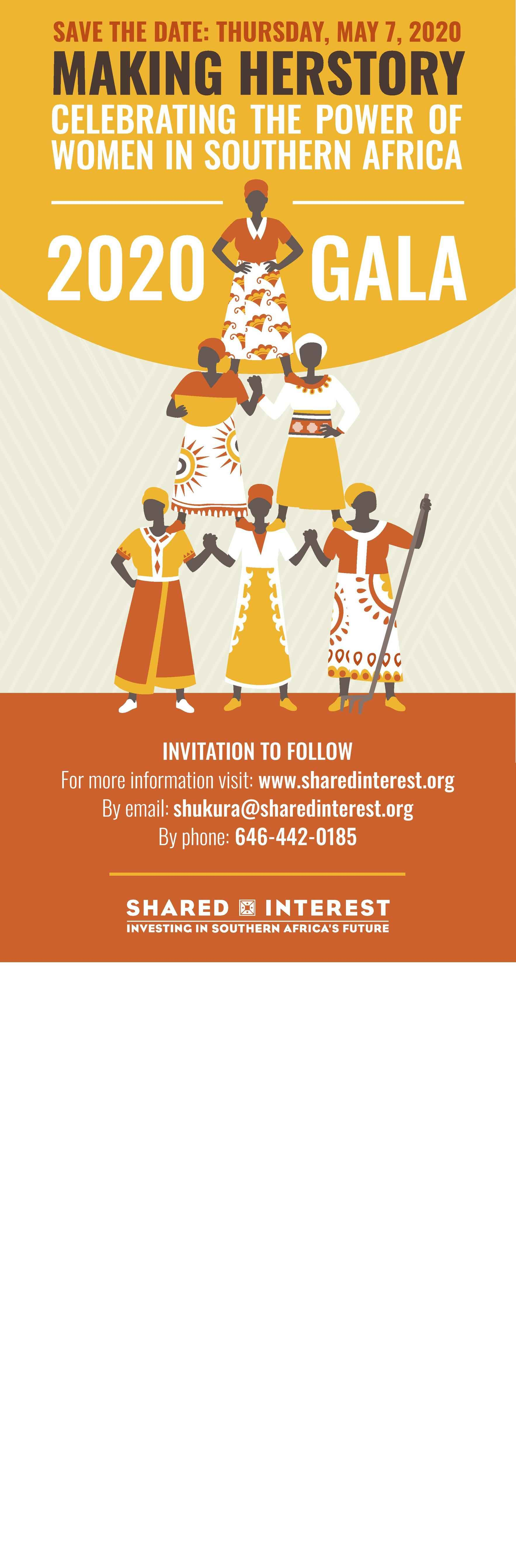 Shared Interest 26th Anniversary Gala - Making HERstory: Celebrating the Power of Women in Southern Africa image