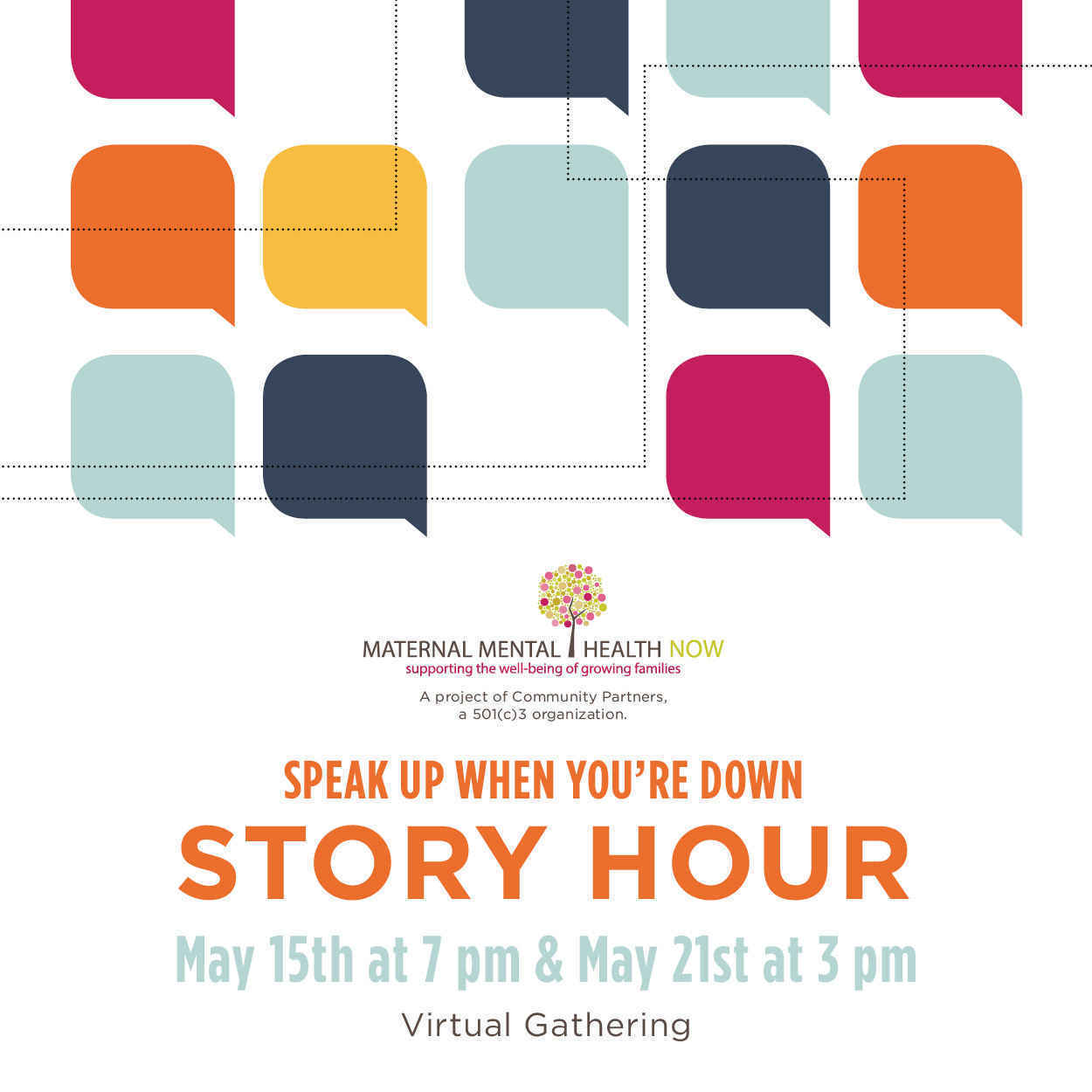 Speak Up When You're Down Story Hour  image