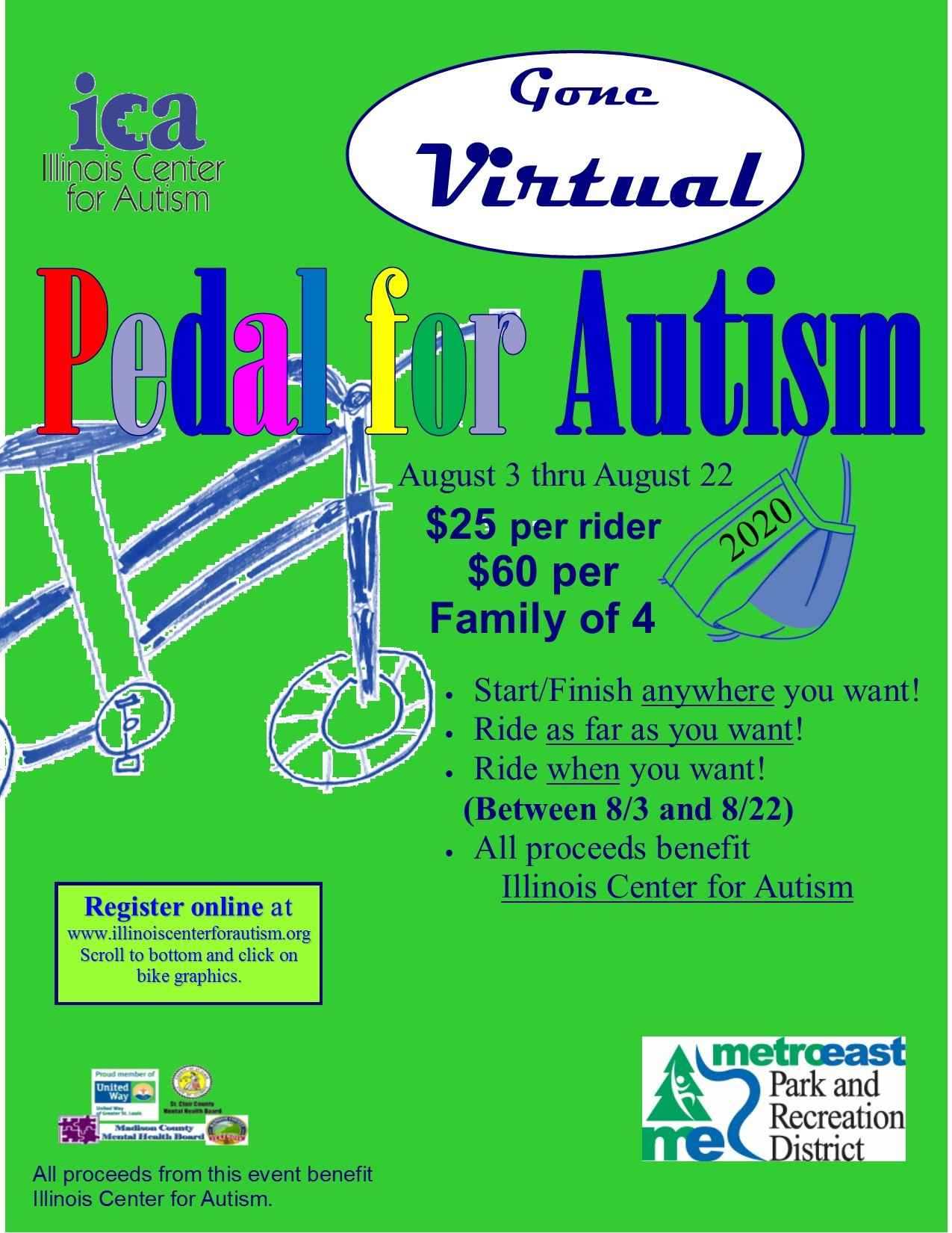 2020 Registration for Virtual Pedal for Autism image