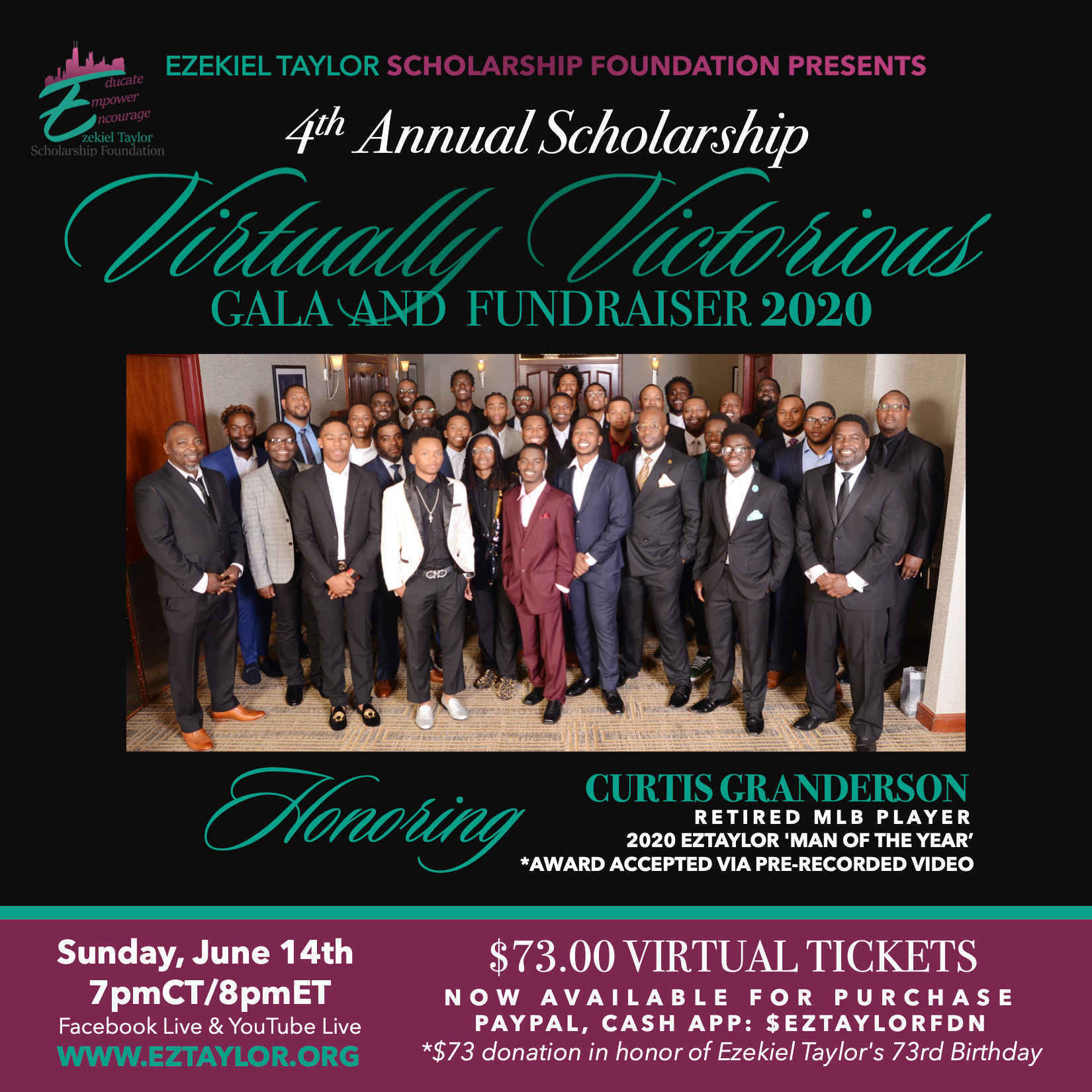 Ezekiel Taylor Foundation 'Virtually Victorious' Scholarship Gala & Auction image