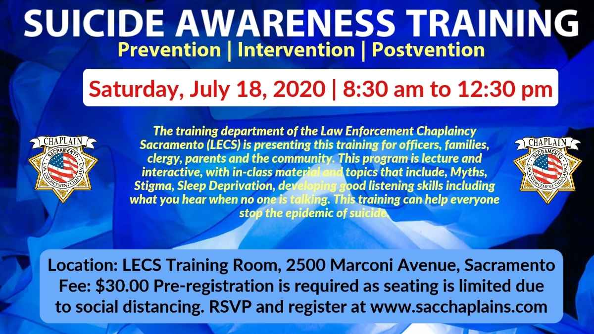 SUICIDE AWARENESS TRAINING 7/18/2020 image