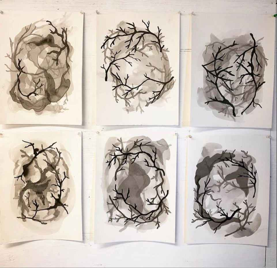 Abstract Ink Wash Paintings with Jake Miller image