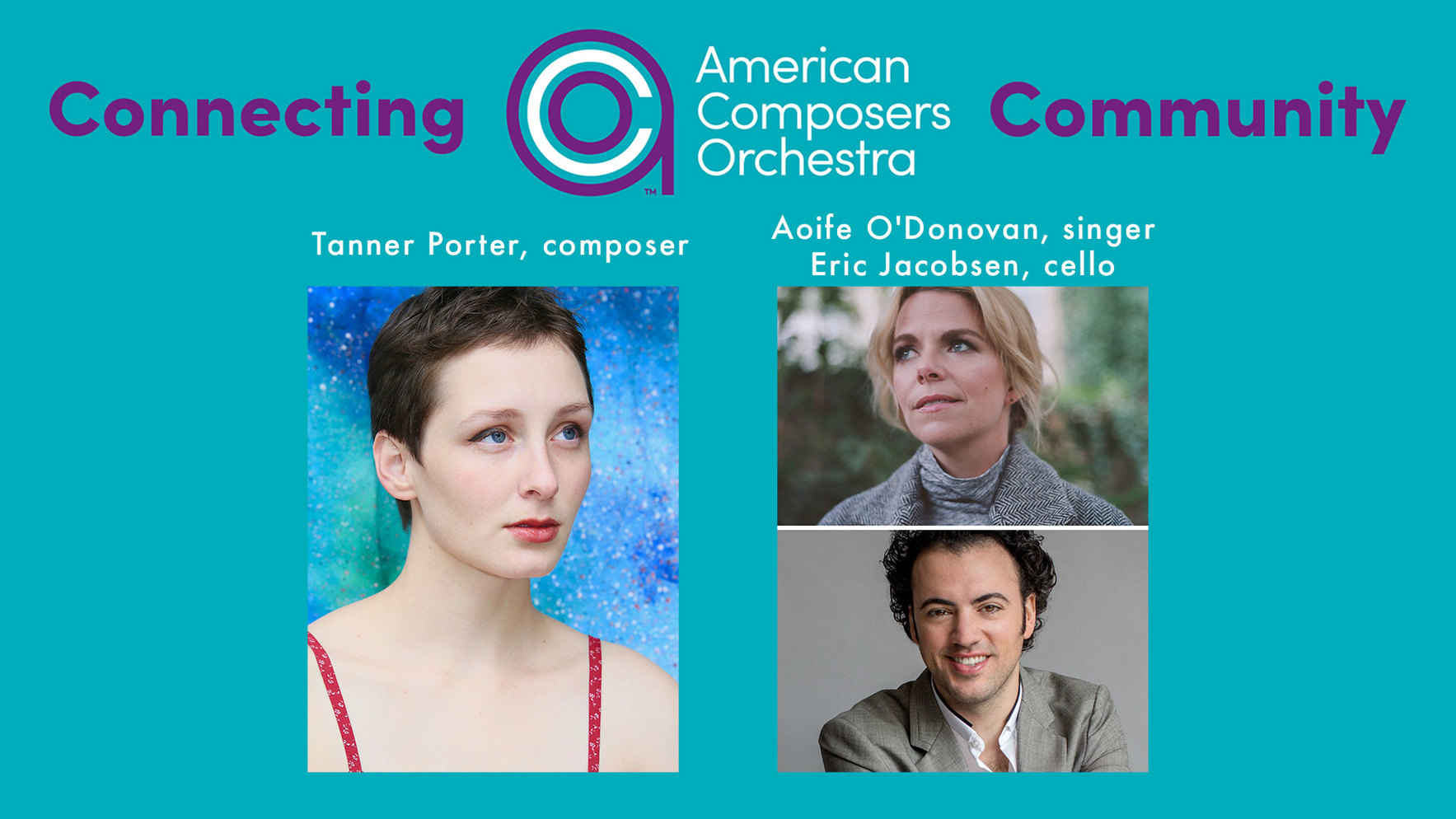 Connecting ACO Community Volume III - World premiere of Tanner Porter's new work for cellist, Eric Jacobsen and vocalist Aoife O'Donovan image