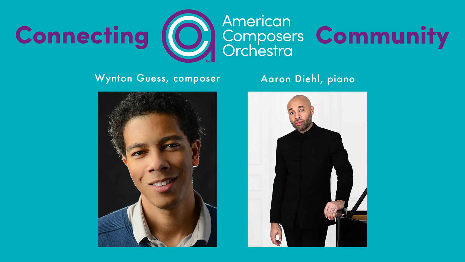 Connecting ACO Community Volume III - Wynton Guess's new work for pianist, Aaron Diehl image