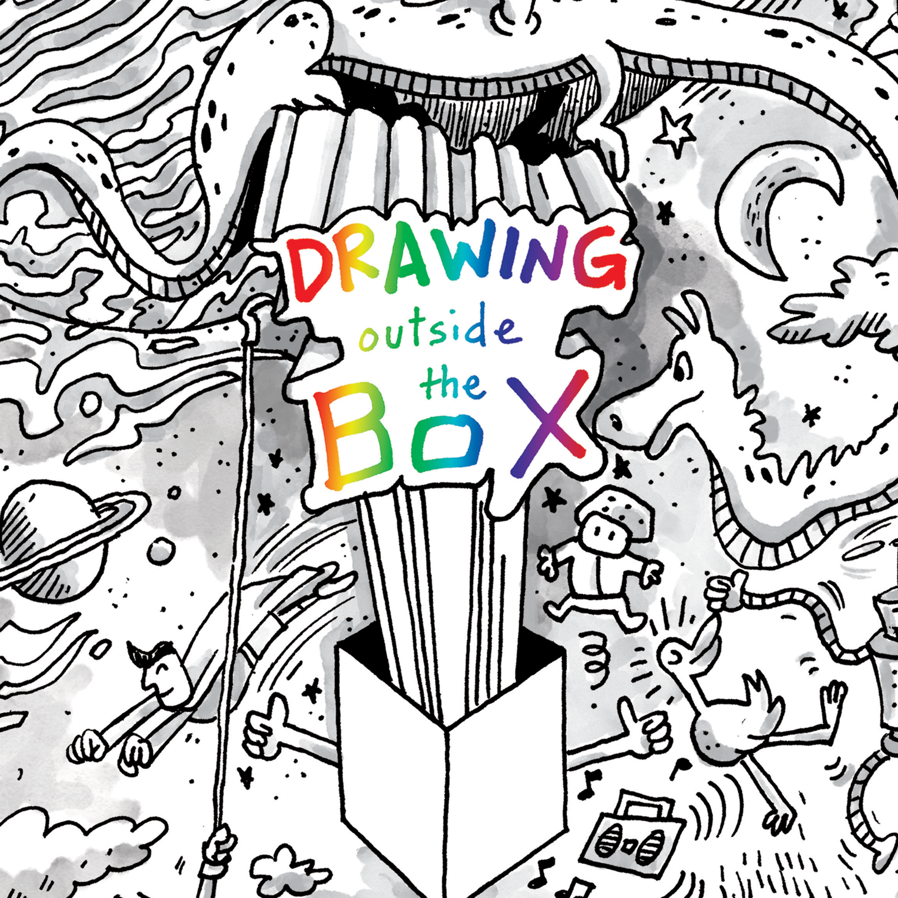 Drawing Outside the Box: Drawing in 3D image