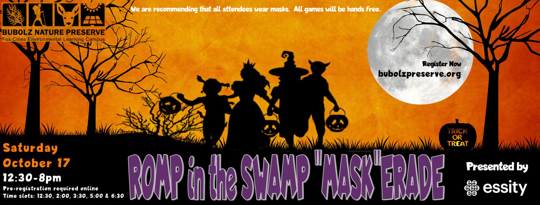 "ROMP in the SWAMP ""MASK'ERADE image"