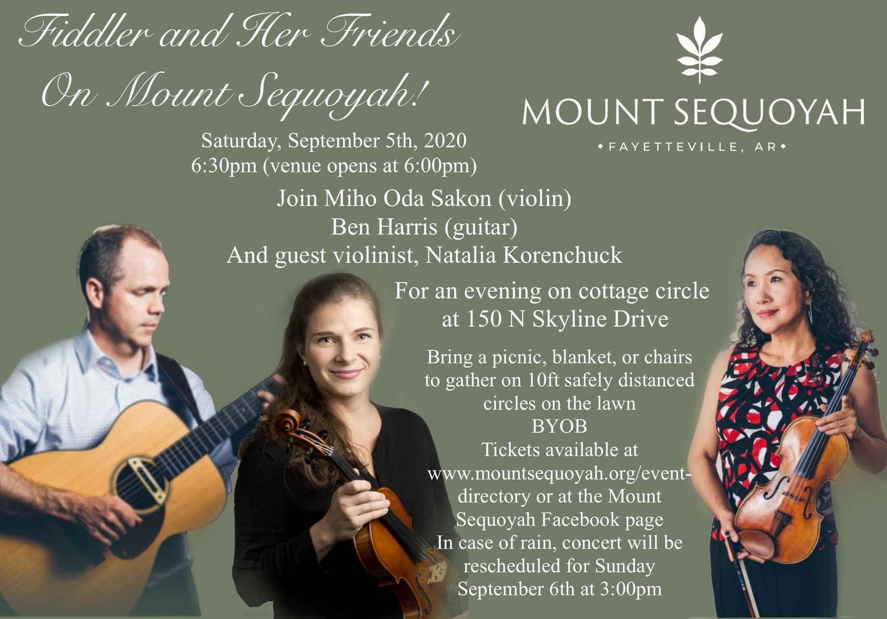 Fiddler and Her Friends on Mount Sequoyah - September 5 image