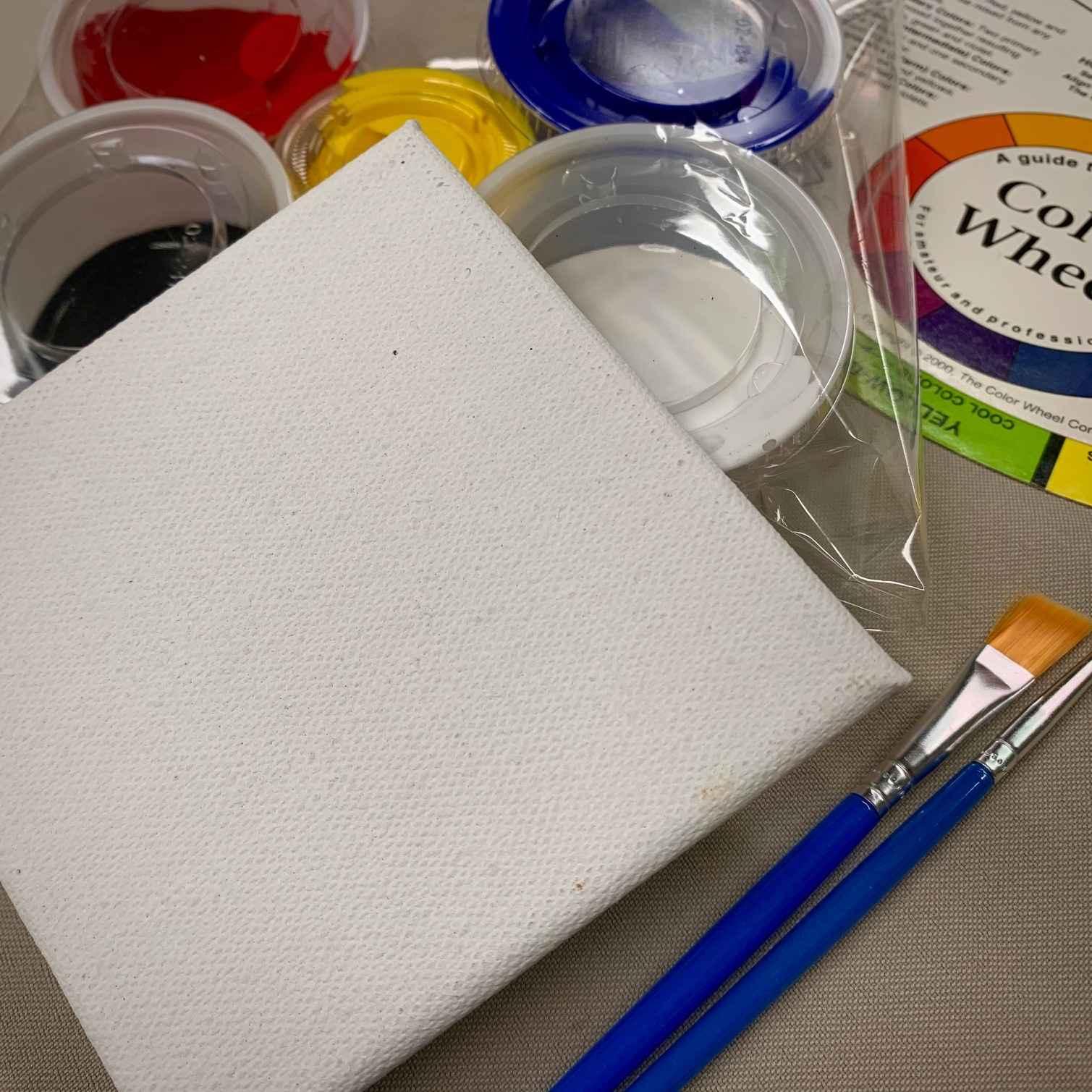 Mini Canvas Painting Art Kit image